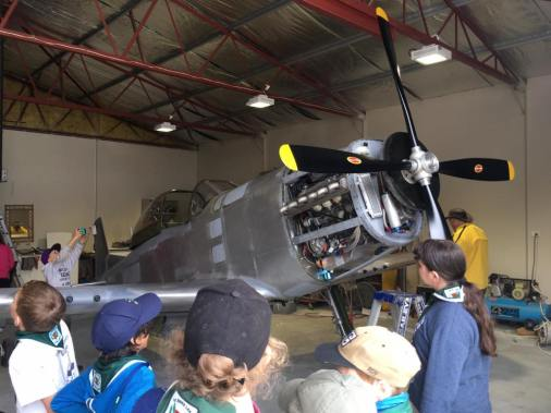 Scouts aeroplane camp